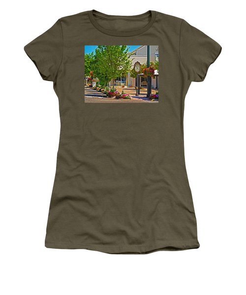 Fairhope Ave With Clock Looking North Up Section Street Women's T-Shirt