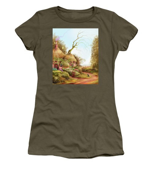 Fairy Chase Cottage Women's T-Shirt (Athletic Fit)
