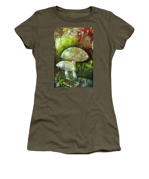 Fairy Kingdom Toadstool Women's T-Shirt (Junior Cut) by Terry Honstead