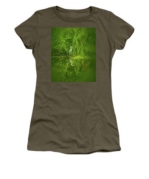 Fairy Tale Heron #g5 Women's T-Shirt