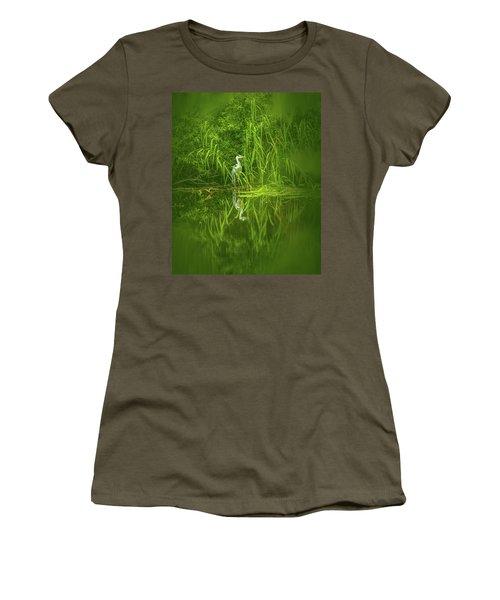 Fairy Tale Heron #g5 Women's T-Shirt (Athletic Fit)