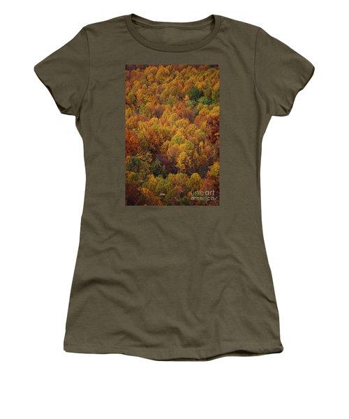 Women's T-Shirt (Junior Cut) featuring the photograph Fall Cluster by Eric Liller