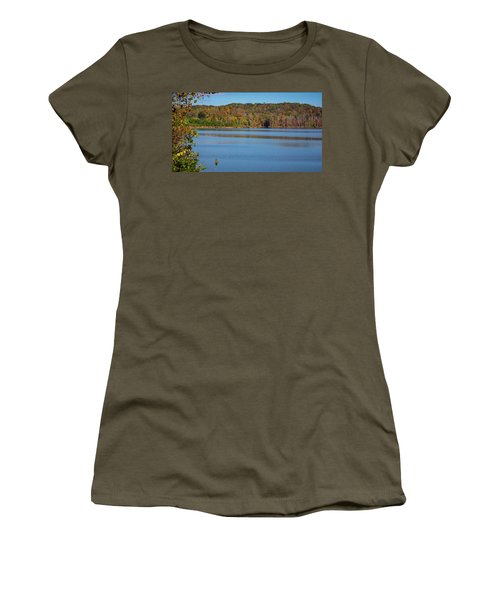 Women's T-Shirt featuring the photograph Fall Color At Lake Zwerner by Randy Bayne