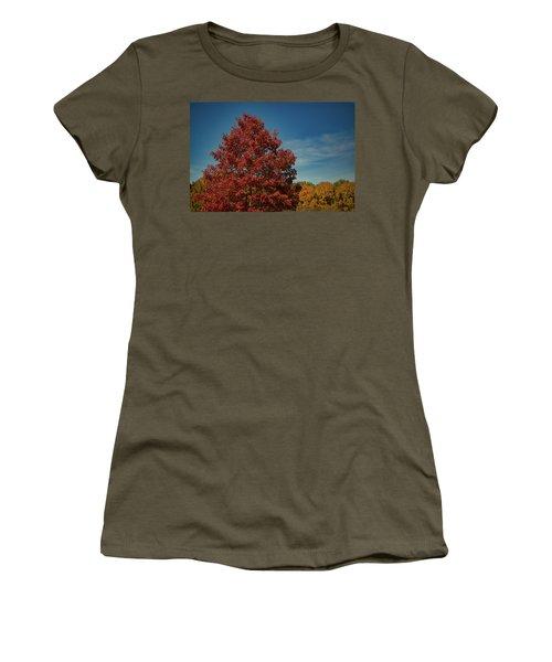 Women's T-Shirt featuring the photograph Fall Colors, Ashville, Nc by Richard Goldman