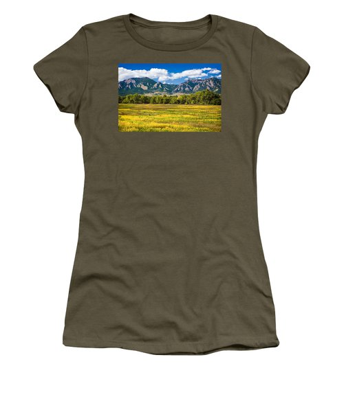 Fall Colors Of Boulder Colorado Women's T-Shirt