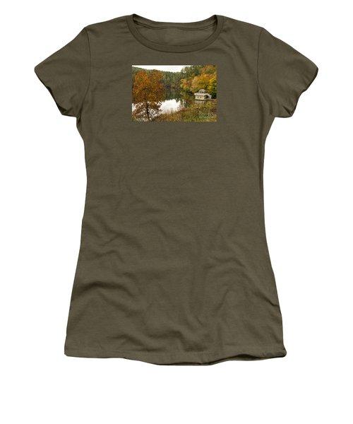 Fall Fishing Women's T-Shirt (Junior Cut) by Barbara Bowen