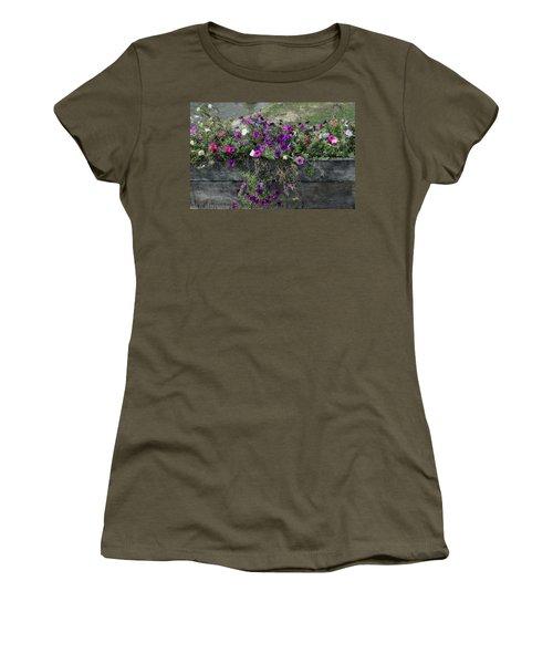 Fall Flower Box Women's T-Shirt (Junior Cut) by Joanne Coyle