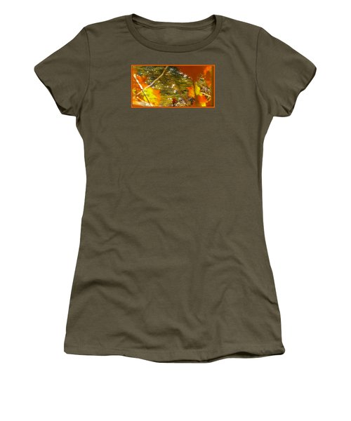 Women's T-Shirt (Junior Cut) featuring the photograph Fall Flyer by David Norman