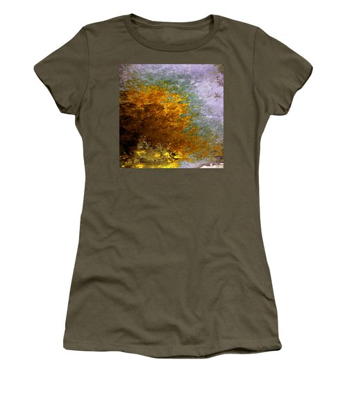 Women's T-Shirt (Junior Cut) featuring the digital art Fall Foliage by John Krakora