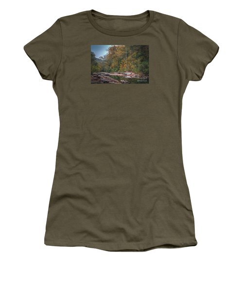 Fall In Arkansas Women's T-Shirt (Athletic Fit)