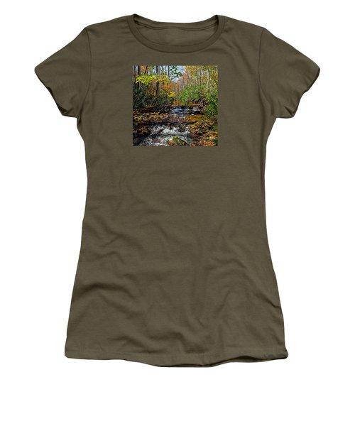 Fall In Cataloochee Women's T-Shirt (Junior Cut) by Paul Mashburn