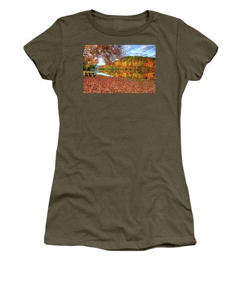 Fall In Murphy, North Carolina Women's T-Shirt (Junior Cut) by Sharon Batdorf