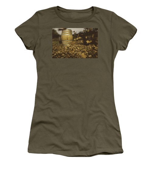 Fall In The Garden Women's T-Shirt (Junior Cut) by Cesare Bargiggia