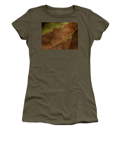 Fall Leaf Women's T-Shirt (Athletic Fit)