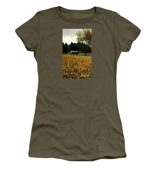 Women's T-Shirt (Junior Cut) featuring the photograph Fall Leaves - No. 2015 by Joe Finney