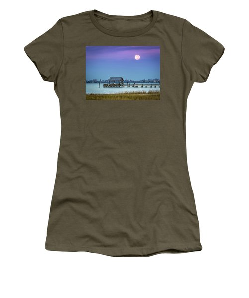 Fall Moon And King Tide - Charleston Sc Women's T-Shirt (Athletic Fit)