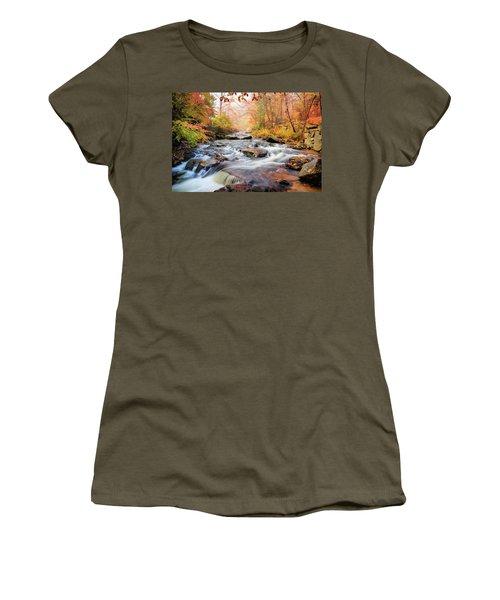 Fall Morning At Gunstock Brook Women's T-Shirt (Junior Cut) by Robert Clifford