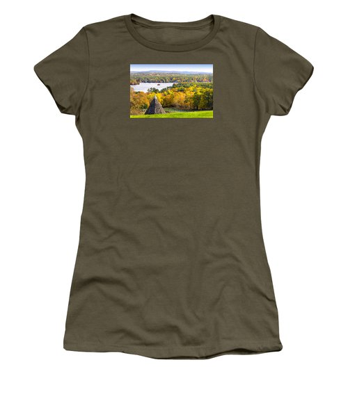 Women's T-Shirt (Junior Cut) featuring the photograph Fall On Lake Winnipesaukee At Center Harbor by Betty Denise