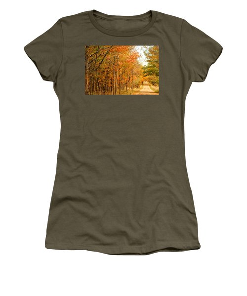 9012 - Fall On Murphy Lake II Women's T-Shirt
