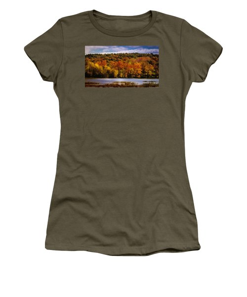 Women's T-Shirt featuring the photograph Fall On Springfield Lake by Allin Sorenson