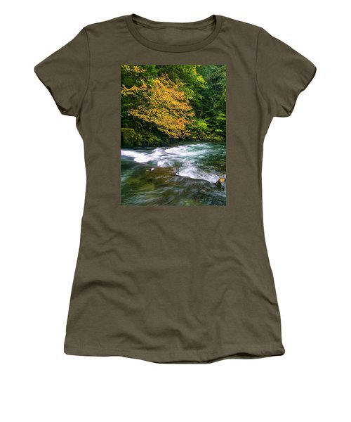 Fall On The Clackamas River, Or Women's T-Shirt