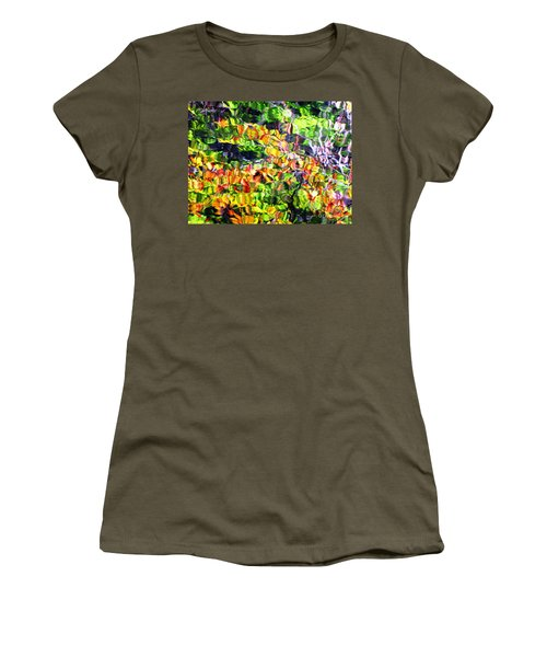 Women's T-Shirt (Junior Cut) featuring the photograph Fall On The Pond by Melissa Stoudt