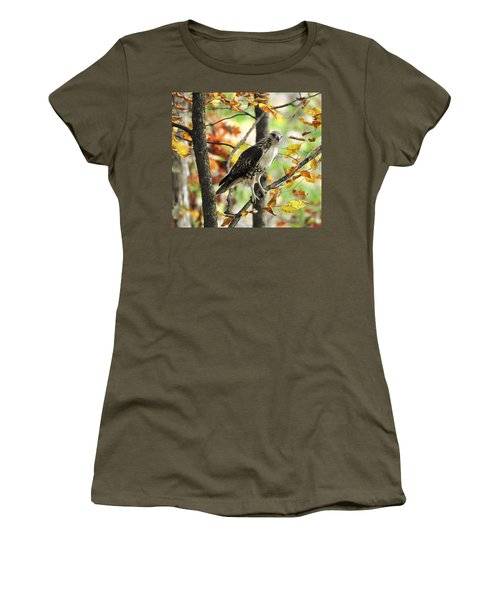 Fall Red-tailed Hawk Women's T-Shirt (Athletic Fit)