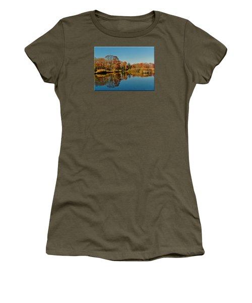 Fall Scene Women's T-Shirt (Junior Cut) by Mikki Cucuzzo