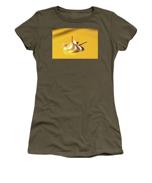 Fallen Frangipani On Mustang Women's T-Shirt