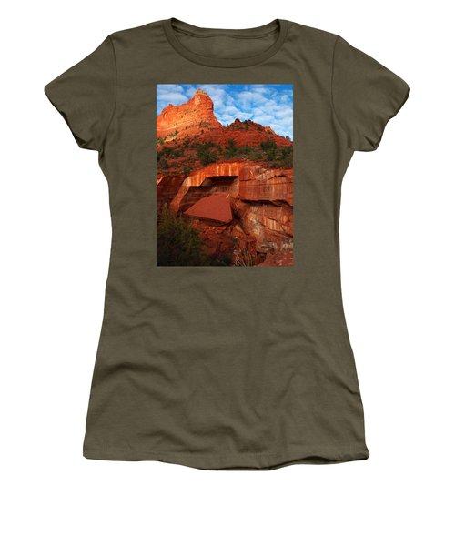 Women's T-Shirt (Junior Cut) featuring the photograph Fallen by James Peterson