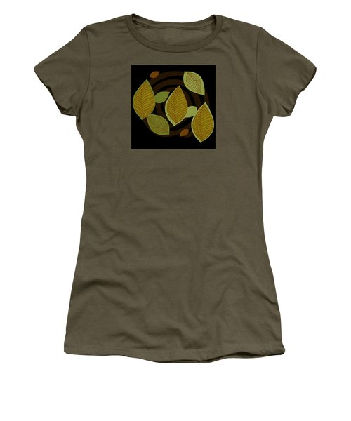 Women's T-Shirt (Junior Cut) featuring the drawing Falling Into Color by Kandy Hurley