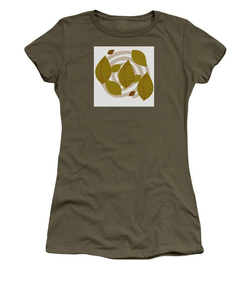 Women's T-Shirt (Junior Cut) featuring the drawing Falling Leaves by Kandy Hurley