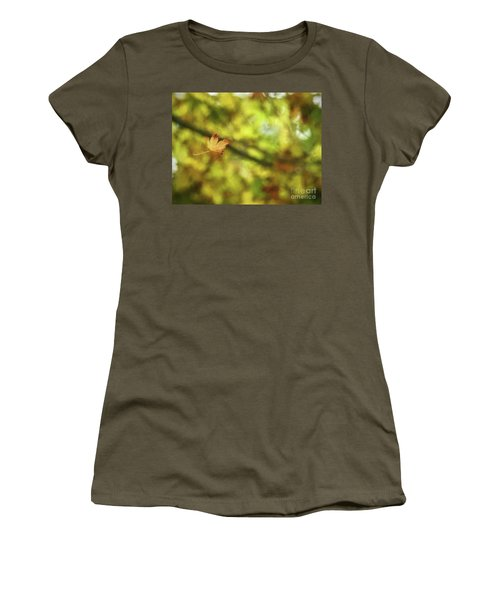 Women's T-Shirt (Athletic Fit) featuring the photograph Falling by Peggy Hughes