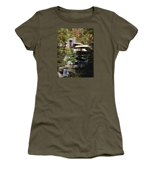 Fallingwater By Frank Lloyd Wright Women's T-Shirt (Athletic Fit)