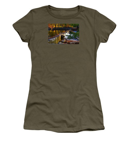 Falls Park Waterfall In The Fall Women's T-Shirt (Athletic Fit)