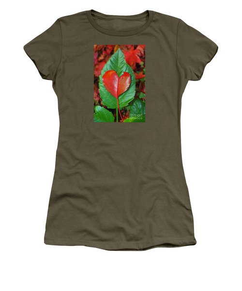 Fall's Vibrant Contrast Women's T-Shirt (Junior Cut) by Debra Thompson