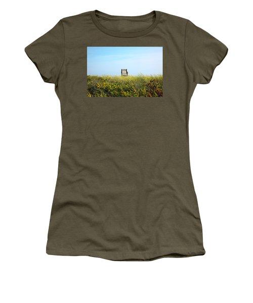 Women's T-Shirt (Junior Cut) featuring the photograph Falmouth Beach Open 9-5 by Madeline Ellis
