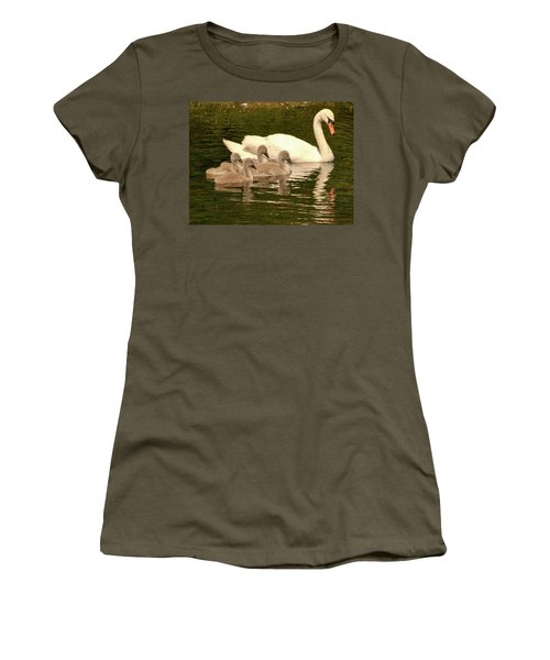 Family Swan  Women's T-Shirt (Athletic Fit)