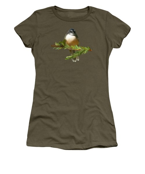 Women's T-Shirt featuring the painting Fantail  by Ivana Westin