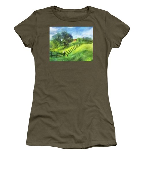 Farm On The Hill Women's T-Shirt (Athletic Fit)