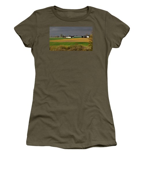 Women's T-Shirt featuring the photograph Farm View by Jeremy Hayden