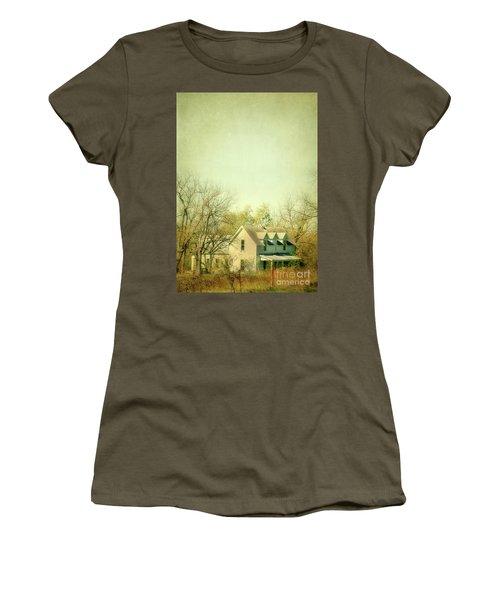 Women's T-Shirt (Junior Cut) featuring the photograph Farmhouse In Arkansas by Jill Battaglia