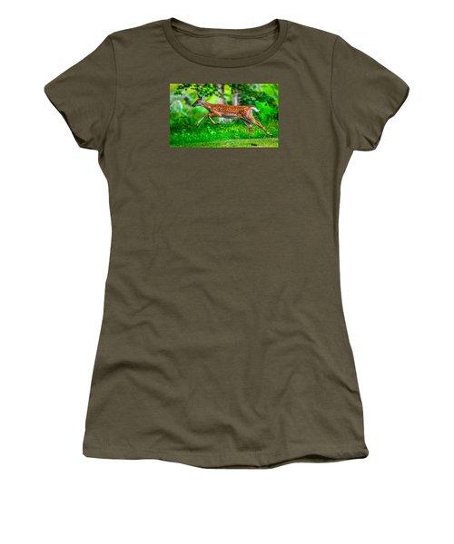 Women's T-Shirt (Junior Cut) featuring the photograph Fast Fawn 2 by Brian Stevens