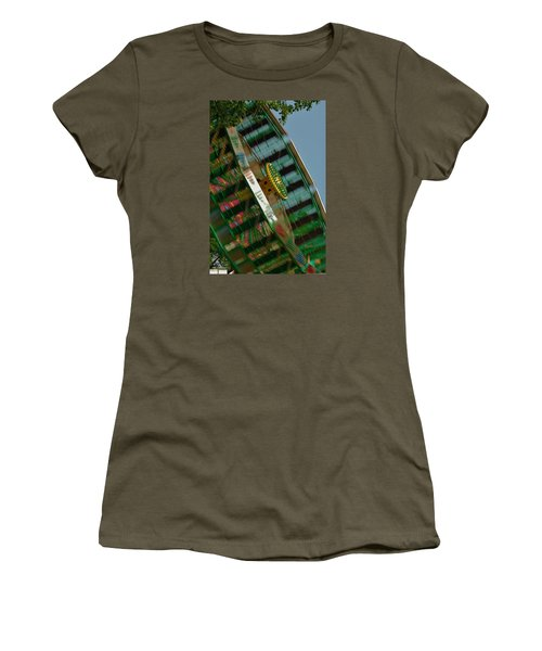 Women's T-Shirt (Junior Cut) featuring the photograph Faster And Faster We Go by Ramona Whiteaker
