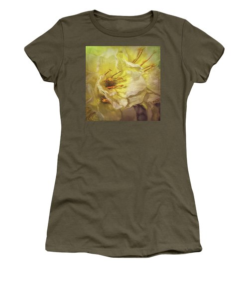 Women's T-Shirt (Athletic Fit) featuring the photograph Faux Flowers by Lewis Mann