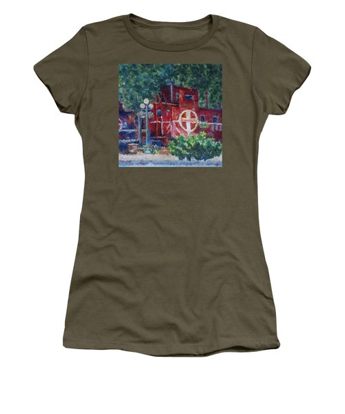 Featherbed Railroad Caboose Women's T-Shirt