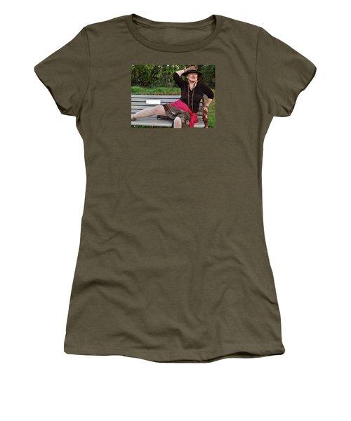 Feeling Jazzy In The Arts Park Women's T-Shirt (Junior Cut) by VLee Watson