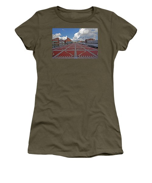 Women's T-Shirt (Junior Cut) featuring the photograph Fells Point Pier by Suzanne Stout