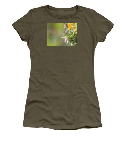 Female Rufous Hummingbird Women's T-Shirt (Athletic Fit)