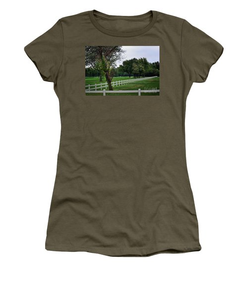Fence On The Wooded Green Women's T-Shirt